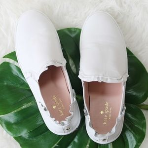 Kate Spade Lilly Leather White Sneaker US 9